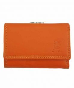 orange wallet for woman