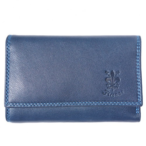 genuine Leather wallet Satinka Colour dark blue for women