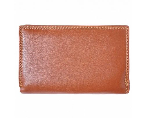 brown wallet in genuine leather Ofelia for women