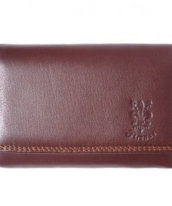 genuine Leather wallet Satinka Colour dark brown for women