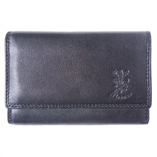 genuine Leather wallet Satinka Colour black for women