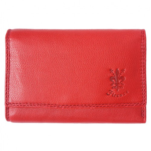 genuine Leather wallet Satinka Colour light red for women