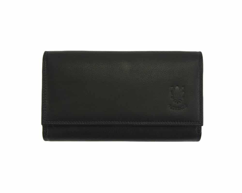 black wallet galina big for woman genuine leather