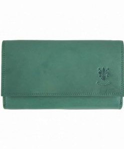 dark turquise woman wallet galina big size