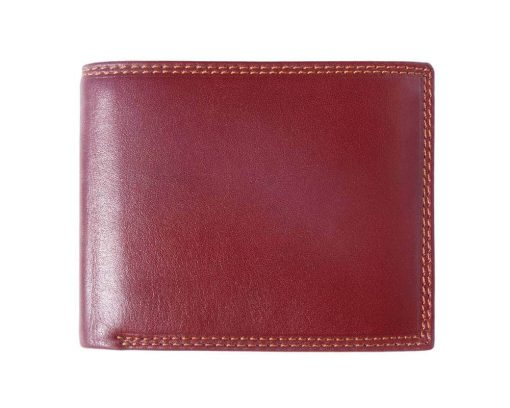 bordeaux wallet in rigid leather Ileana for men