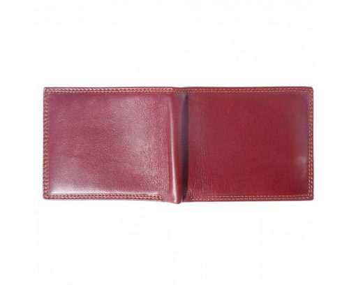 bordeaux wallet in real leather Ileana for men