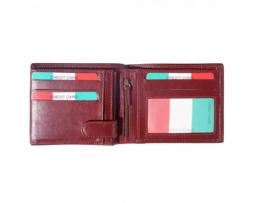 bordeaux wallet in natural leather Ileana for man