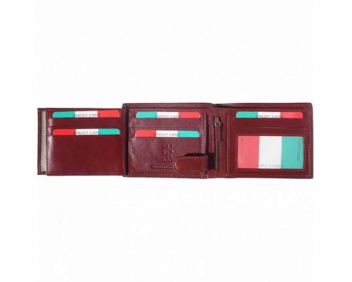bordeaux wallet in leather Ileana for men