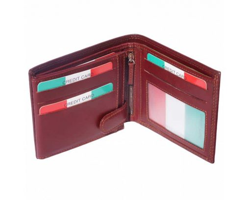 bordeaux wallet Ileana for men