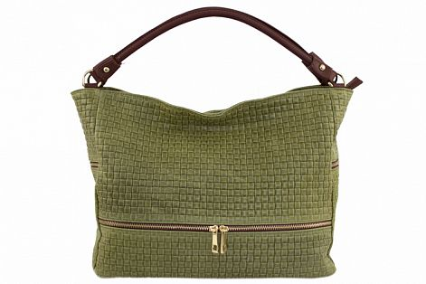 sale green bag printed suede genuine leather Tullia from italy big woman