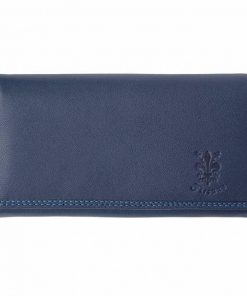 dark blue color wallet in real leather Florinela for women
