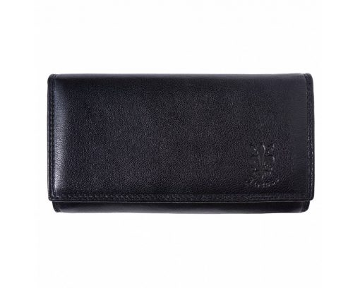 black color wallet in real leather Florinela for women