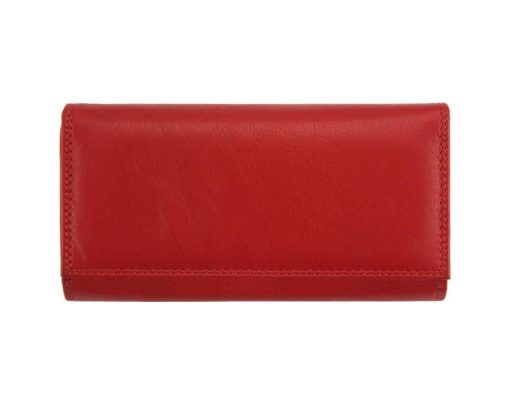 dark red wallet galina from genuine leather