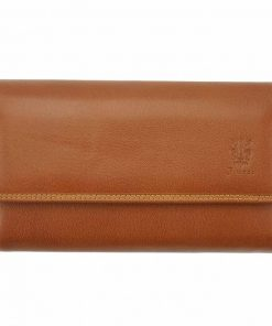italian brown wallet for woman