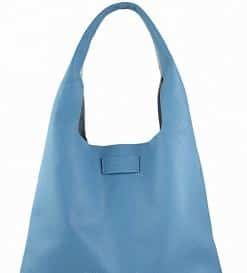 light blue shoulder bag no lining in leather Thera woman