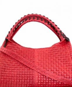 sale buy red bag in printed suede real leather Zenaide woman