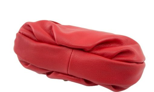 buy red clutch vera pelle Isotta from italy women