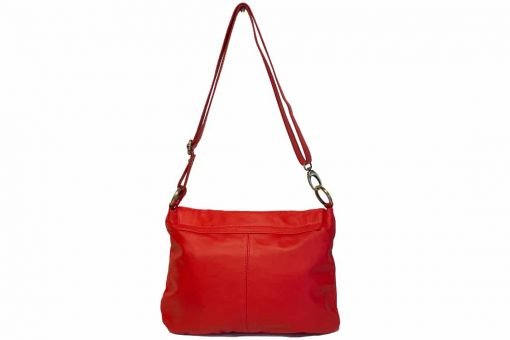 buy red bag in genuine leather Irma woman