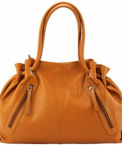 tan bag in natural leather for woman