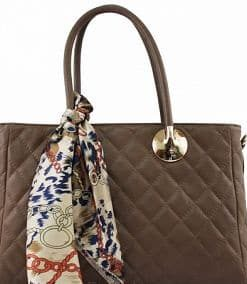 Shoulder bag Michela from genuine leather colour brown photo buy for women