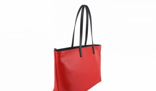 red bag for beach in leather Zorya woman