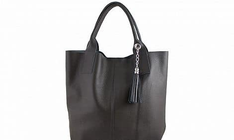 Maxi bag Xantha from genuine leather colour black photo buy for women