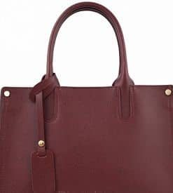 bordeaux bag in leather Velania for ladies