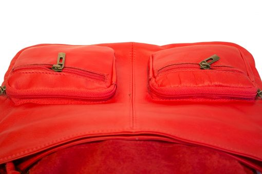 red bag in genuine leather Irma woman