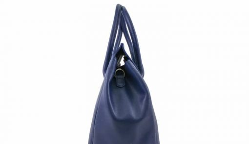 Bag Natalia from genuine leather colour blue photo buy for women