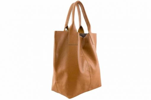 Maxi bag Xantha from genuine leather colour tan photo buy for women
