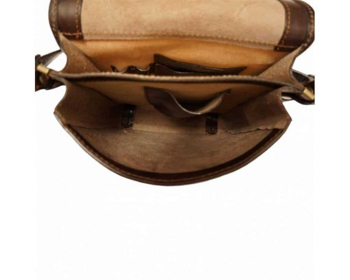 brown messenger bag in leather Jenica for men