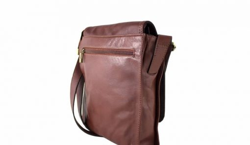 cross body bag Guglielmo from genuine leather colour brown from italy good price