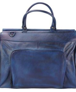dark blue bag in real leather Lidia for men