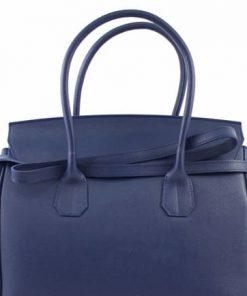 Bag Natalia from genuine leather colour blue photo for women