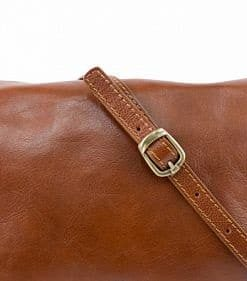 brown messenger bag in real leather Valicia woman