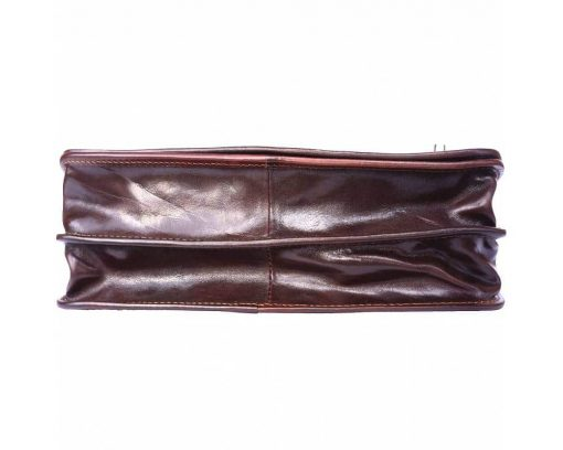 dark brown classic briefcase in rigid genuine leather ionel from italy for men