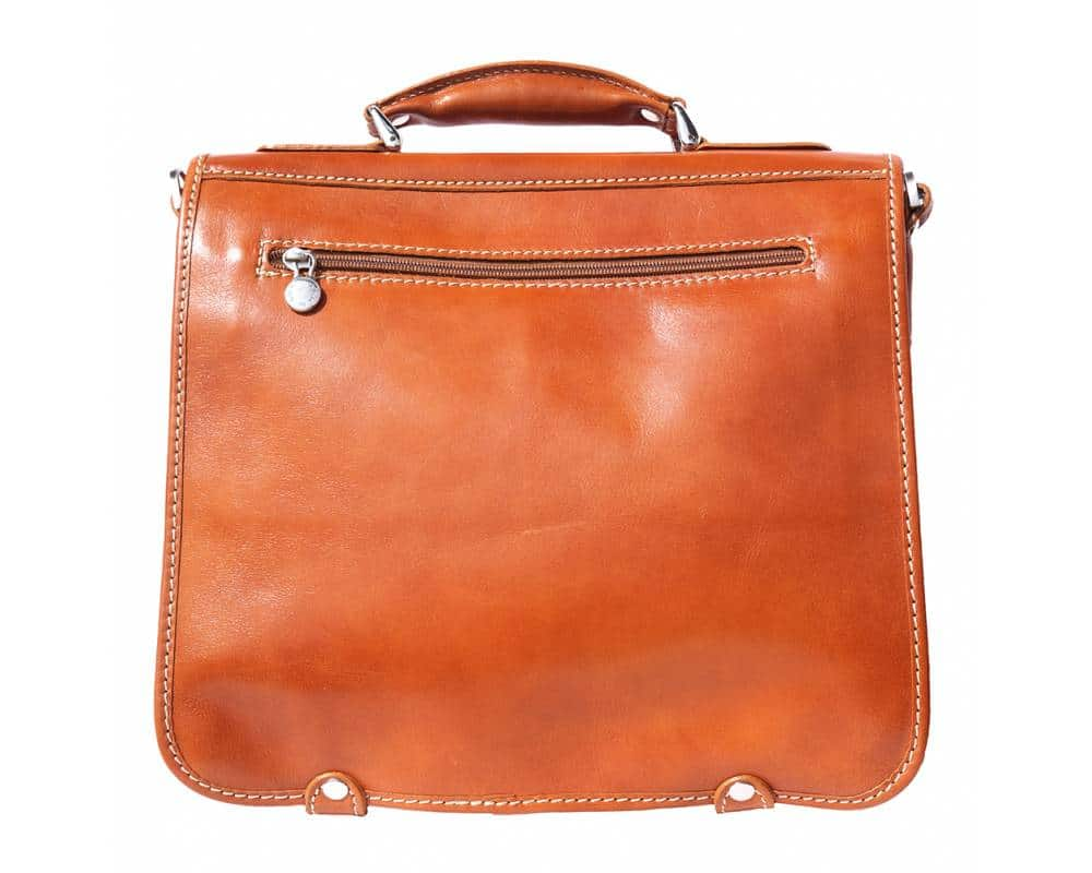 tan business bag for documents in rigid real eather Larisa for women