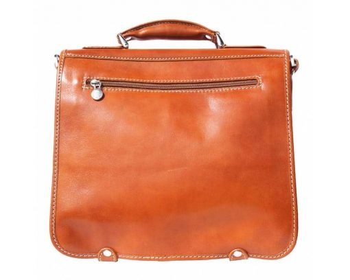 tan briefcase for documents in real genuine leather Larisa for women