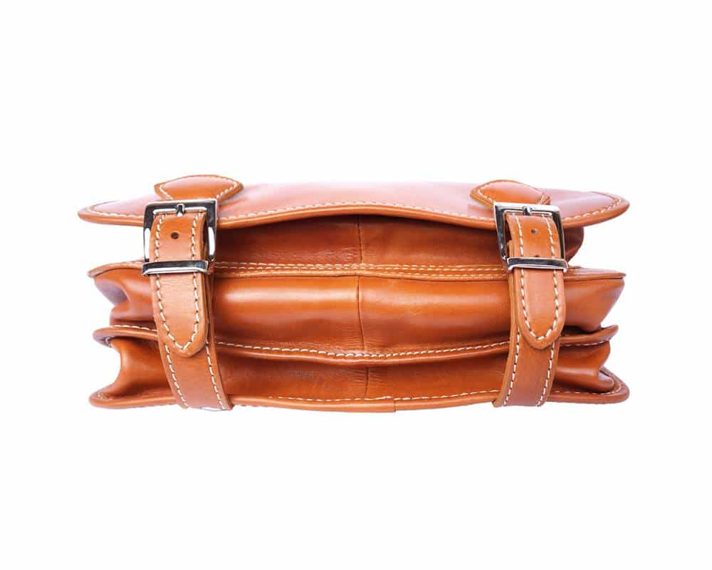 tan business bag for documents in rigid genuine leather Larisa for women