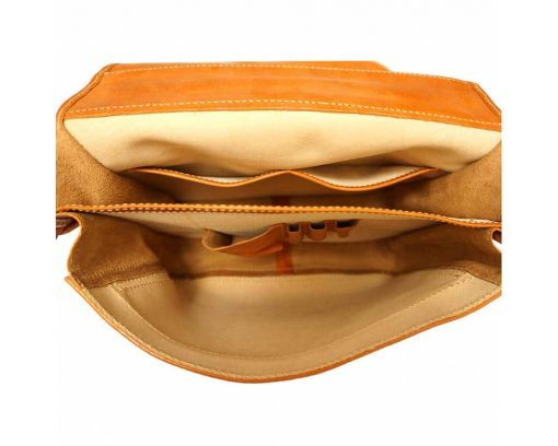 tan business bag for documents in genuine leather Larisa for women