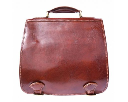 brown business bag for documents in genuine leather Larisa for women