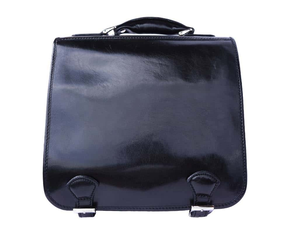black business bag for documents in leather Larisa for men