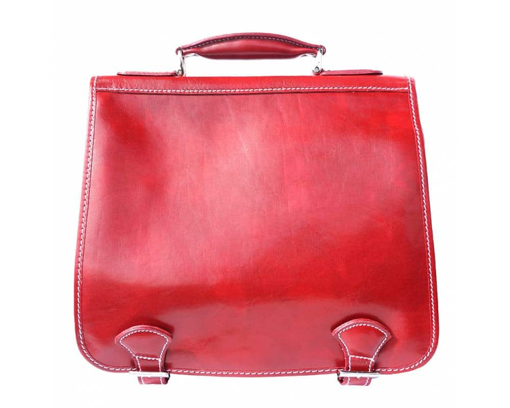red business bag for documents in genuine leather Larisa for women
