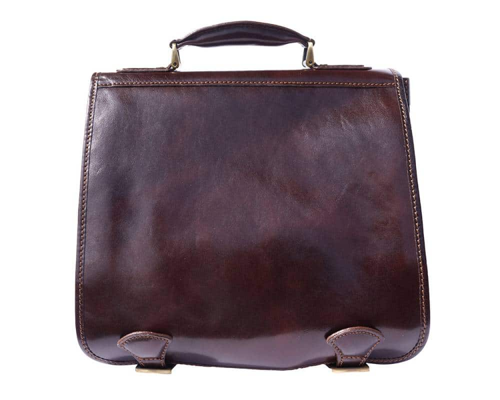 dark brown business bag for documents in leather Larisa for men