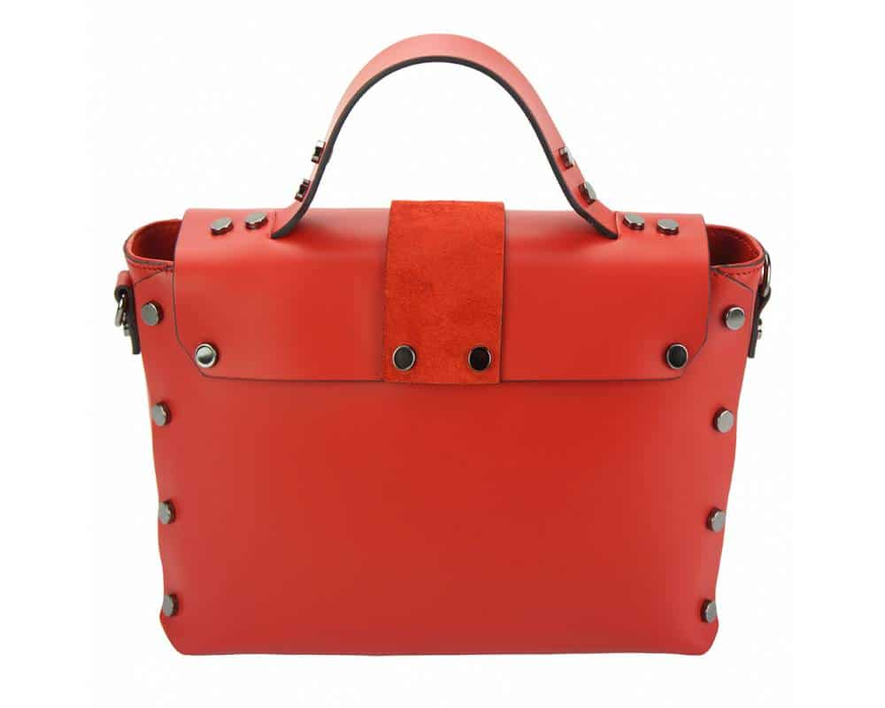 red handbag in natural leather Kali for women