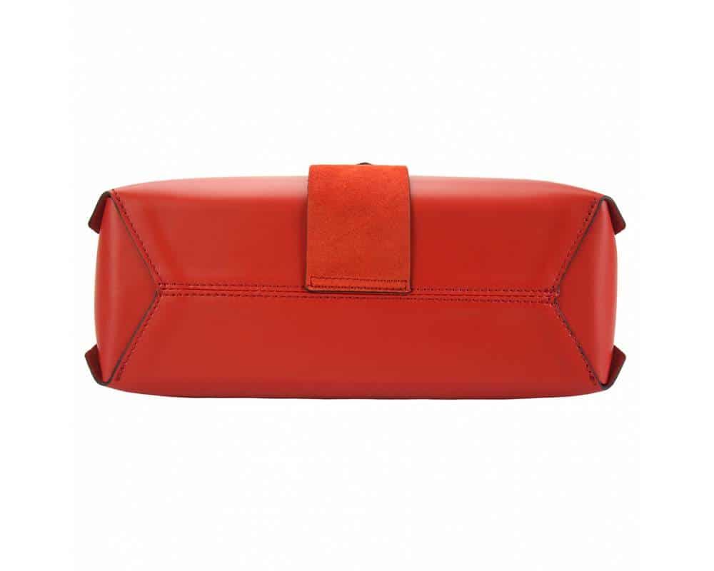 red handbag in genuine leather Kali for women