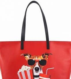 red bag for beach with picture Zorya woman