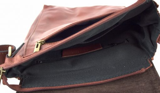 cross body bag Guglielmo from genuine leather colour brown buy for men
