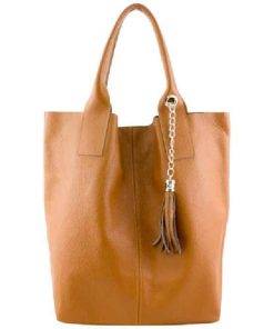 Maxi bag Xantha from genuine leather colour tan for women