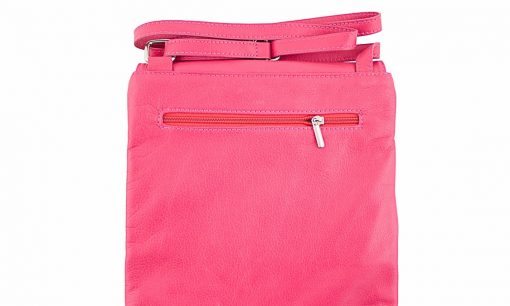 fucsia color cross body bag in leather Ippolito women